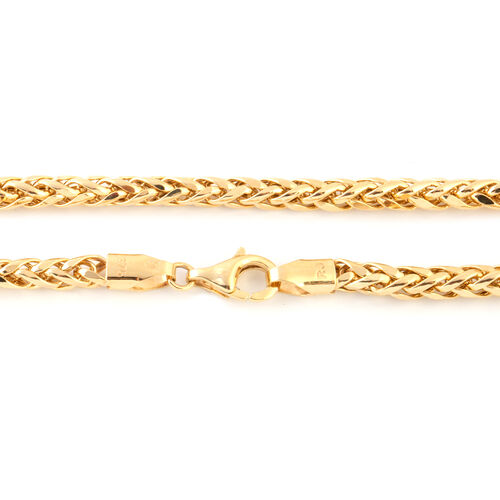 Italian Made - 9K Yellow Gold Spiga Necklace (Size 20), Gold wt 11.50 Gms.