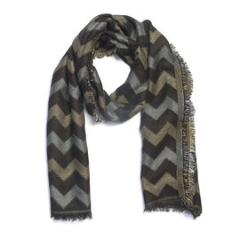 Designer Inspired Grey and Black Colour Lurex scarf (Size 185x70 Cm)