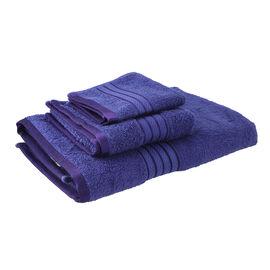 Super Find- 3 Piece Set Egyptian Cotton Bath Towel (Size 137x76 Cm), Hand Towel (Size 71x41 Cm) and