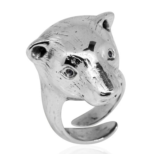 Royal Bali Collection Sterling Silver Bear Head Ring, Silver wt 33.36 Gms.