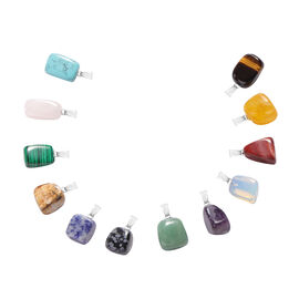 One Time Close Out Deal- Set of 12 - Multi Gemstone Pendant