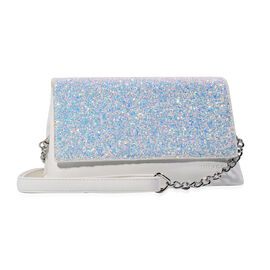Bulaggi Collection - Joy Glitter Clutch Bag (Size 23x13x9 Cm) - White
