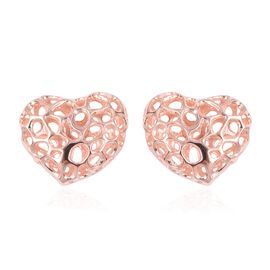 RACHEL GALLEY Heart Stud Earrings in Rose Gold Plated Sterling Silver