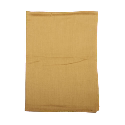 Limited Available - 100% Cashmere Wool Camel Colour Shawl (Size 190x68Cm)
