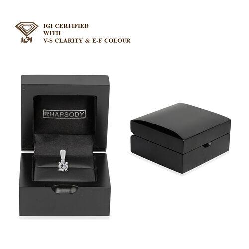 9K White Gold SGL Certified Diamond (I3/G-H) Solitaire Pendant  0.50 Ct.