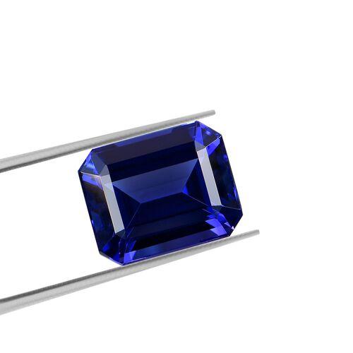 IGI Certified AAAA Tanzanite Emerald Cut 13.6x11.09x7.78mm 10.71 Cts