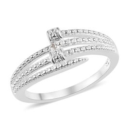 Diamond (Rnd) Bypass Ring in Sterling Silver