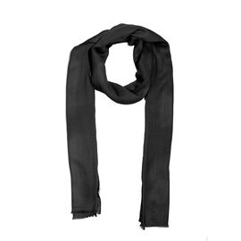100% Cashmere Wool Black Colour Scarf (Size 190x70 Cm)