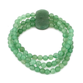Green Aventurine Stretchable Bracelet (Size 7.5) 171.35 Ct.
