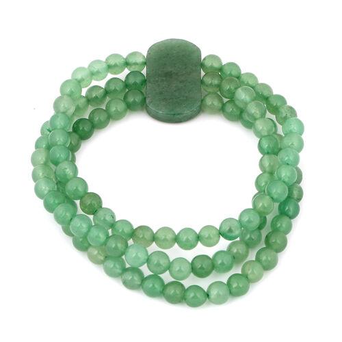 Green Aventurine Stretchable Bracelet (Size 7.5) 171.35 Ct.