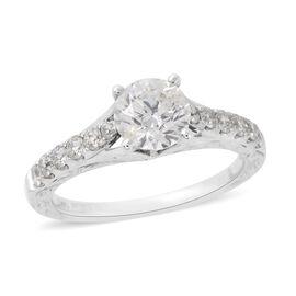 NY Close Out Deal- 14K White Gold Diamond (Rnd) (I2/G-H) Ring 1.33 Ct. Centre Dia 1.00 Ct.