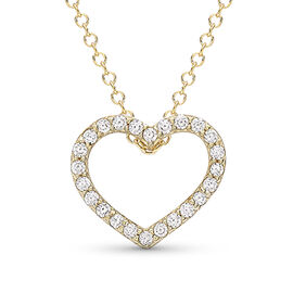 9K Yellow Gold Simulated Diamond Necklace