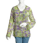 Green, Purple and Multi Colour Floral Printed Tunic (Size 65X50 Cm)