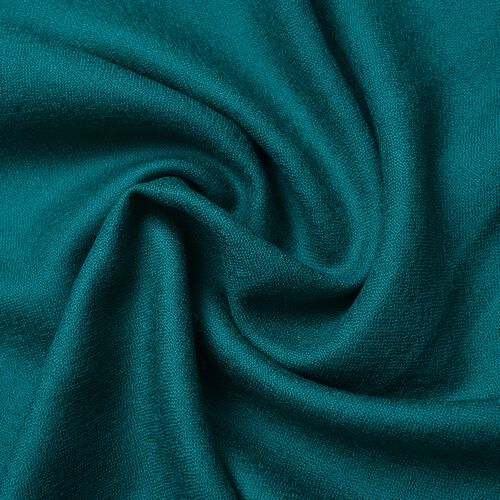 Super Soft-100% Wool Dark Green Colour Scarf with Fringes (Size 190X70 Cm)