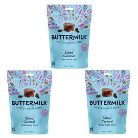 Buttermilk 3x100g Dairy Free Salted Caramel Cups