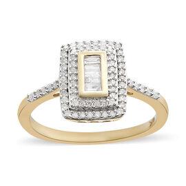 9K Yellow Gold SGL Certified Diamond (Rnd) (I3/G-H) Ring 0.502 Ct.