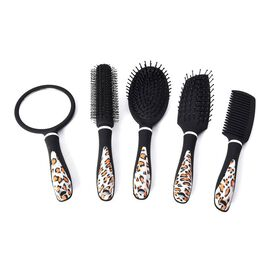 5 Piece Set - Hair Brushes (includes 1 Flat Comb, 1 Flat Modelling Brush, 1 Roll Modelling Brush, 1