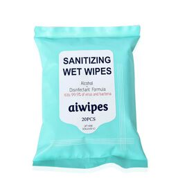 Portable Alcohol Disinfectant Disposable Wet Wipes (Size 15x20 Cm)