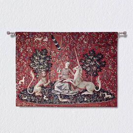 Signare Tapestry - 100% Cotton Wall Hanging - Lady & Unicorn Sense of Sight