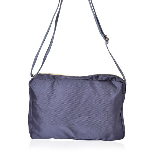 Dark Grey Colour Multi Pocket Waterproof Crossbody Bag with Adjustable Shoulder Strap (Size 27X18X9 Cm)