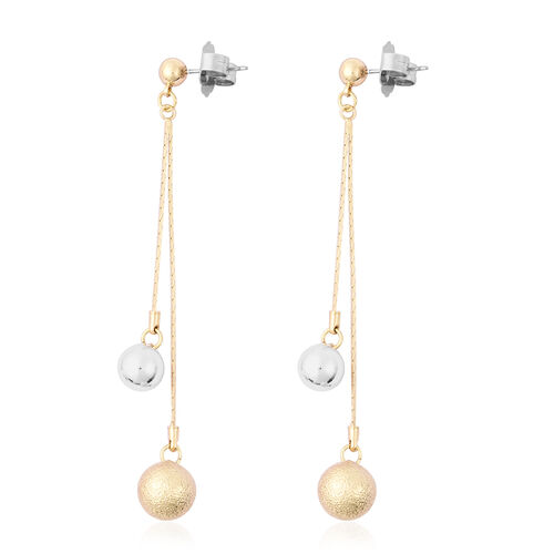 Dangle Earrings (with Push Back) in Silver and Gold Tone
