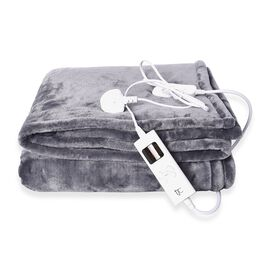 Super Auction - Deluxe Home Collection- Luxury Heated Sherpa Blanket with Controller & Overheat Prot