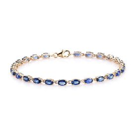 9K Y Gold AA Royal Ceylon Sapphire Bracelet (Size 7.5) with Lobster Clasp 7.50 Ct.