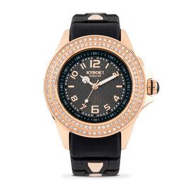 KYBOE Radiant Collection Rose Gold 40MM Swarovski Crystal Studded LED Watch - 100M Water Resistance