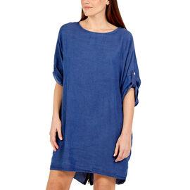 NOVA of London - Zip Back Dress in Dark Denim (Size up to 20)