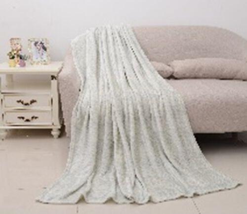 Melange Microfiber Flannel Blanket in Light Grey Colour (Size 150x200 Cm)
