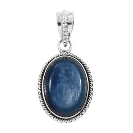 12.60 Ct Moon Kyanite Solitaire Pendant in Sterling Silver