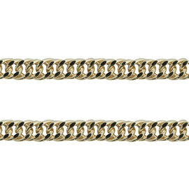 JCK Vegas Collection 9K Yellow Gold Curb Necklace (Size 20), Gold wt 7.94 Gms
