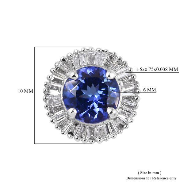 RHAPSODY 950 Platinum AAAA Tanzanite (Rnd), Diamond Pendant 1.00 Ct.