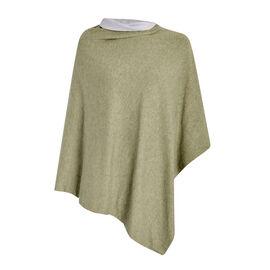 Kris Ana Contrast Khaki Green and Grey Poncho (60x75cm)