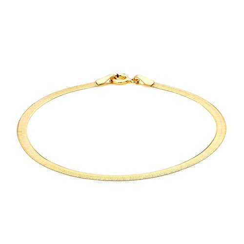 9K Yellow Gold Herringbone Bracelet (Size 7.25)