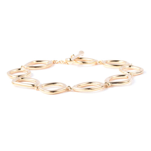 LucyQ Fluid Design Bracelet (Size 8) in Yellow Gold Overlay Sterling Silver