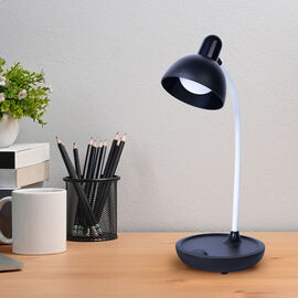 Portable Touch Control Rechargable LED Table Lamp - Black