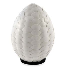 Bali Collection - Handcrafted Seashell ES Battery Table Lamp with Pear Shape Armadillo Motif (Size 2
