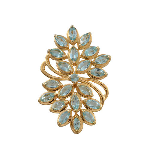 Paraibe Apatite (Mrq) Pendant in 14K Gold Overlay Sterling Silver 3.100 Ct.