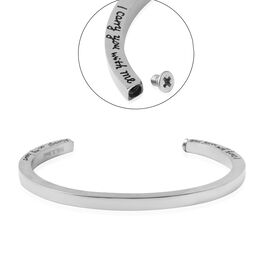 3 Piece Set - Engraved Message Memorial Bangle (Size 7), Screw Drive and Funnel with Needle in Stain