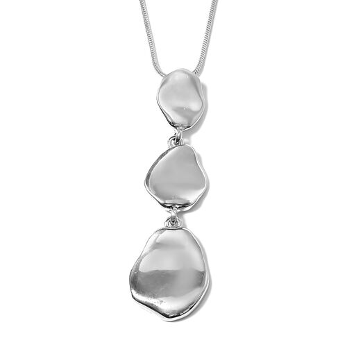 New York Close Out Deal- Designer Inspired Silver Plated Necklace (Size 32 with 2.50 inch Extender)
