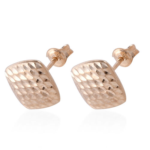 Royal Bali Collection 9K Yellow Gold Stud Earrings (With Puch Back)