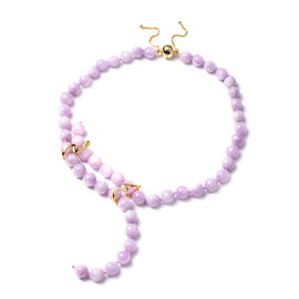 Kunzite Multi-Style Necklace (Size 24) with Magentic Lock in Yellow Gold Overlay Sterling Silver 491