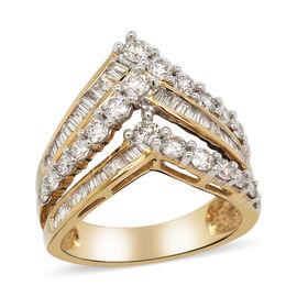 14K Yellow Gold Diamond (SI-I1/G-H) Ring 1.50 Ct, Gold wt 5.80 Gms