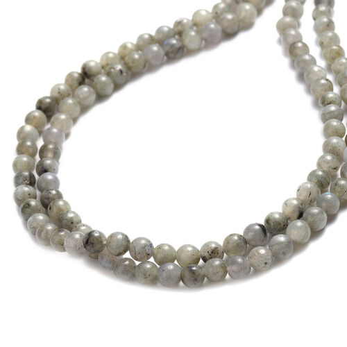 Labradorite Beads Necklace (Size 18 with 2 inch Extender) 239.00 Ct.