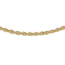 14K Gold Overlay Sterling Silver Prince of Wales Chain (Size 20), Silver wt 3.20 Gms