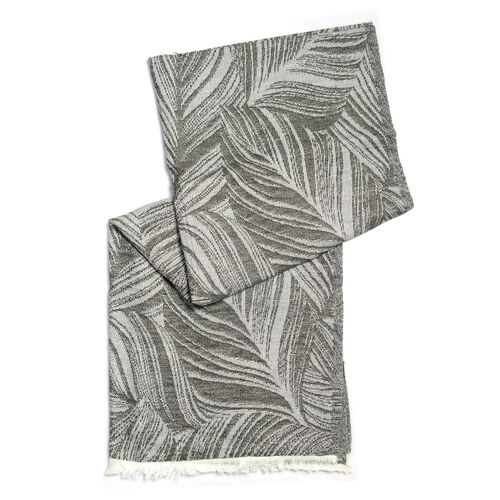Brown and Grey Colour Scarf (Size 190x70 Cm)