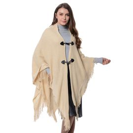 Beige Colour Kimono with Tassels Free Size