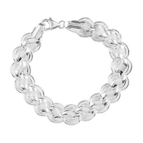 Sterling Silver Braided Style Bracelet (Size - 7.25),  Silver Wt. 17.43 Gms