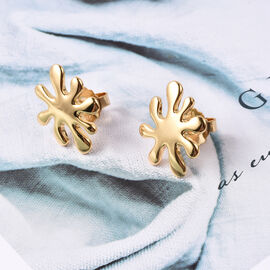 LucyQ Splash Stud Earrings in Gold Plated Sterling Silver